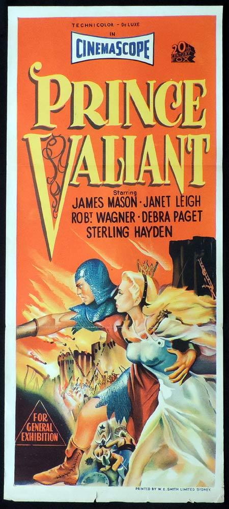 PRINCE VALIANT Original Daybill Movie Poster Charles Bronson
