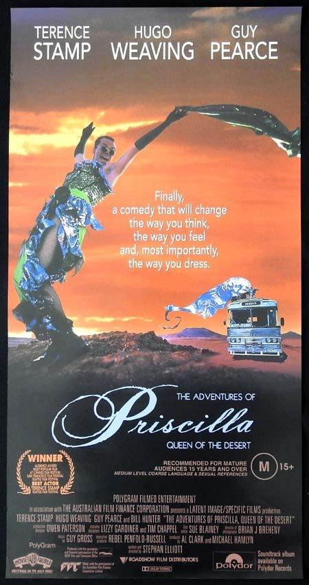 PRISCILLA QUEEN OF THE DESERT Australian Daybill Movie poster Hugo Weaving
