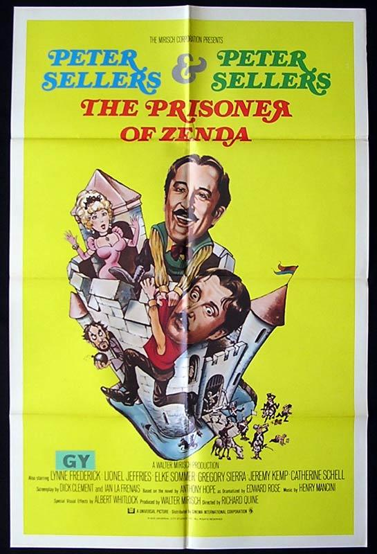THE PRISONER OF ZENDA Original One sheet Movie poster Peter Sellers