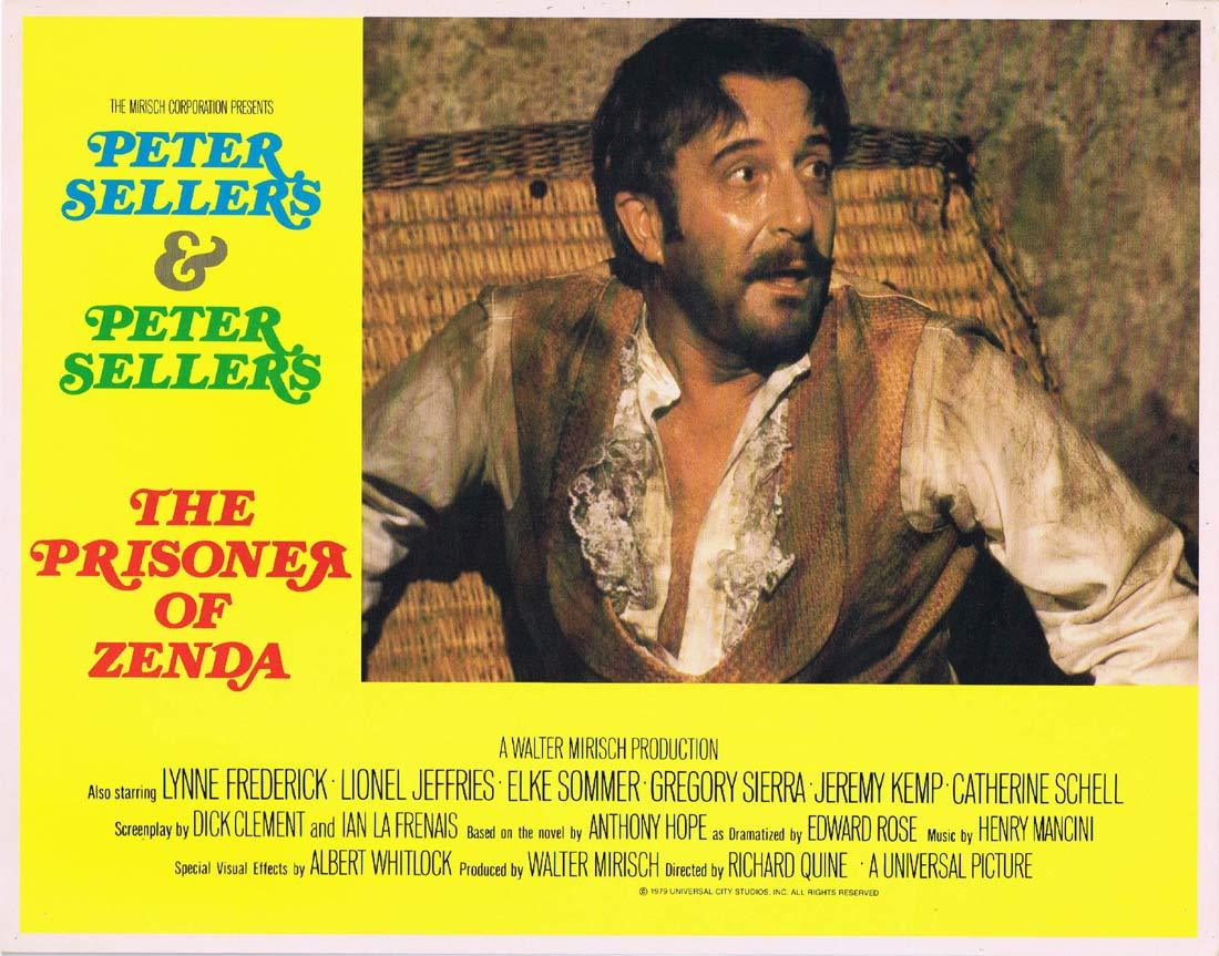 THE PRISONER OF ZENDA Original Lobby Card 2 Peter Sellers Lionel Jeffries