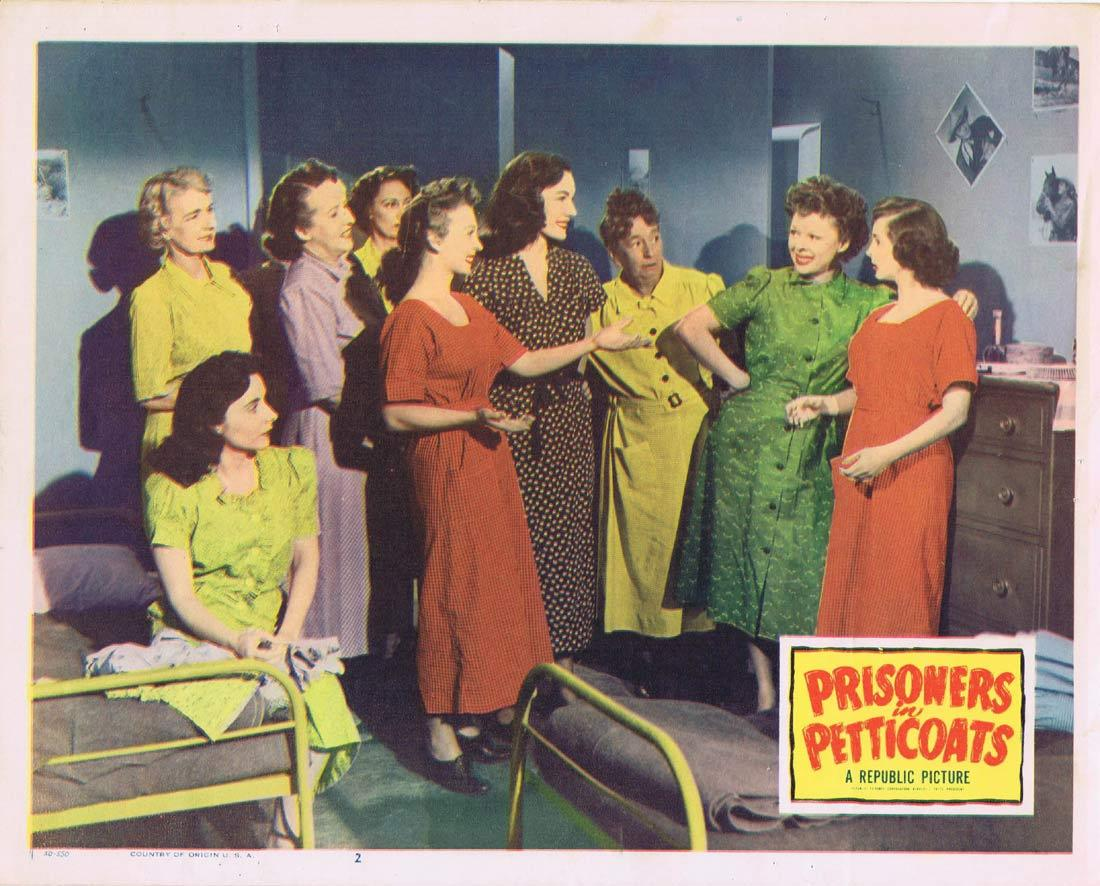 PRISONERS IN PETTICOATS Vintage Lobby Card 2 Valentine Perkins Robert Rockwell Bad Girl