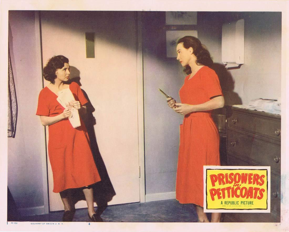 PRISONERS IN PETTICOATS Vintage Lobby Card 4 Valentine Perkins Robert Rockwell Bad Girl