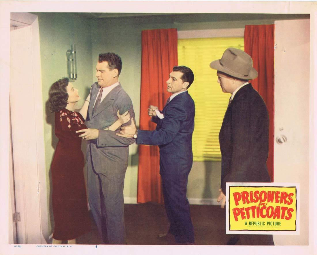 PRISONERS IN PETTICOATS Vintage Lobby Card 5 Valentine Perkins Robert Rockwell Bad Girl