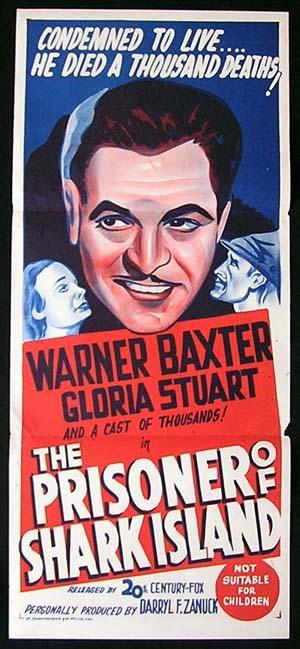 PRISONER OF SHARK ISLAND Daybill Movie poster 1940s John Ford