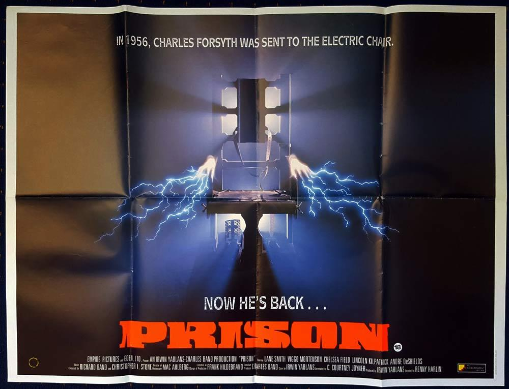 PRISON Original British Quad Movie poster Viggo Mortensen Electric Chair