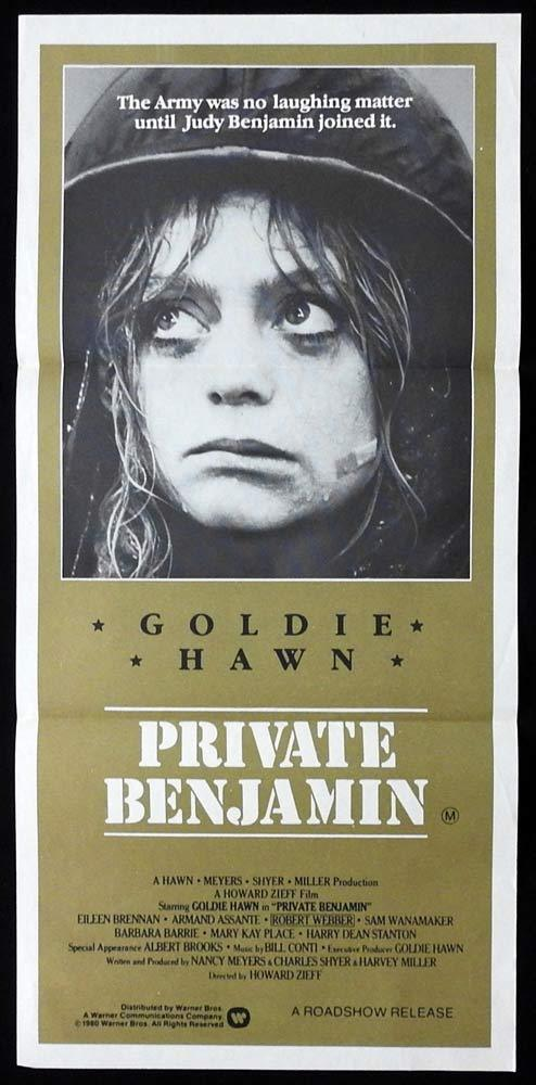 PRIVATE BENJAMIN daybill Movie poster Goldie Hawn Eileen Brennan