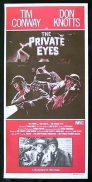 THE PRIVATE EYES Daybill Movie Poster Don Knotts Tim Conway
