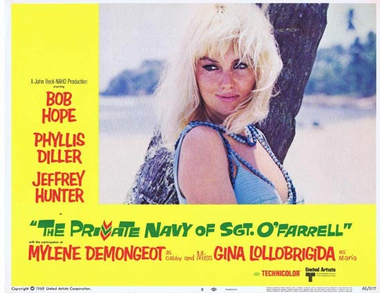 PRIVATE NAVY OF SGT O'FARRELL 1968 Lobby card 8 Mylene Demongeot