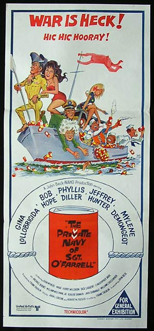 THE PRIVATE NAVY OF SGT O'FARRELL Original Daybill Movie Poster Bob Hope