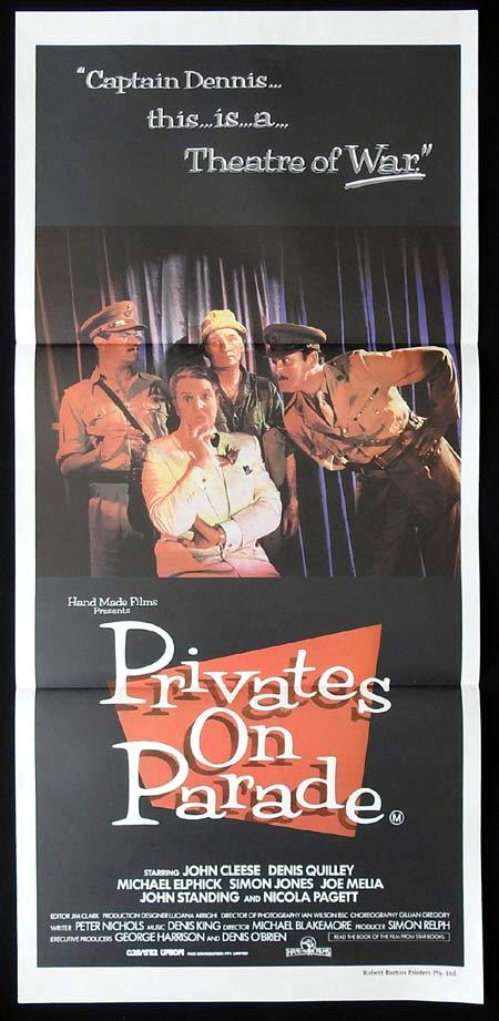 PRIVATES ON PARADE Original Daybill Movie Poster John Cleese David Bamber