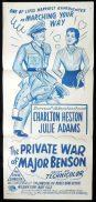 PRIVATE WAR OF MAJOR BENSON Daybill Movie poster Charlton Heston