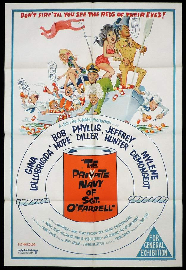 PRIVATE NAVY OF SGT O'FARRELL One sheet Movie poster Bob Hope Phyllis Diller