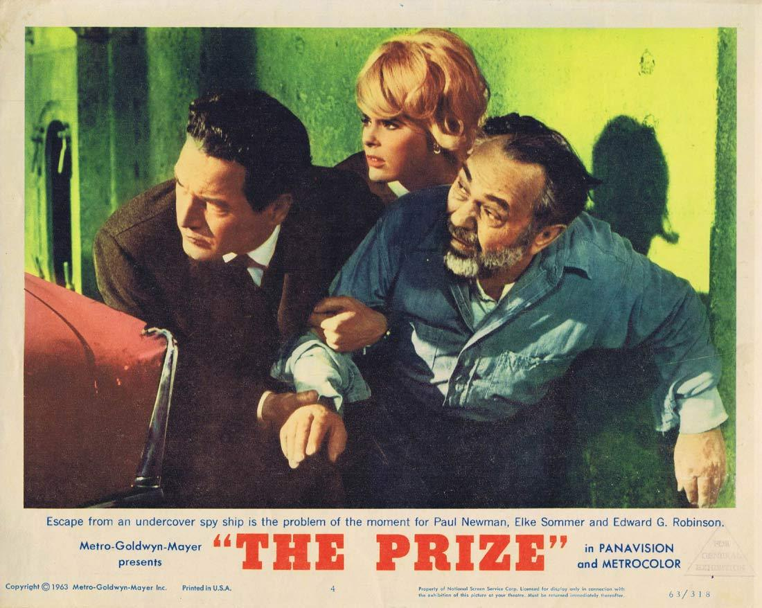 THE PRIZE Lobby Card 4 Paul Newman Edward G. Robinson