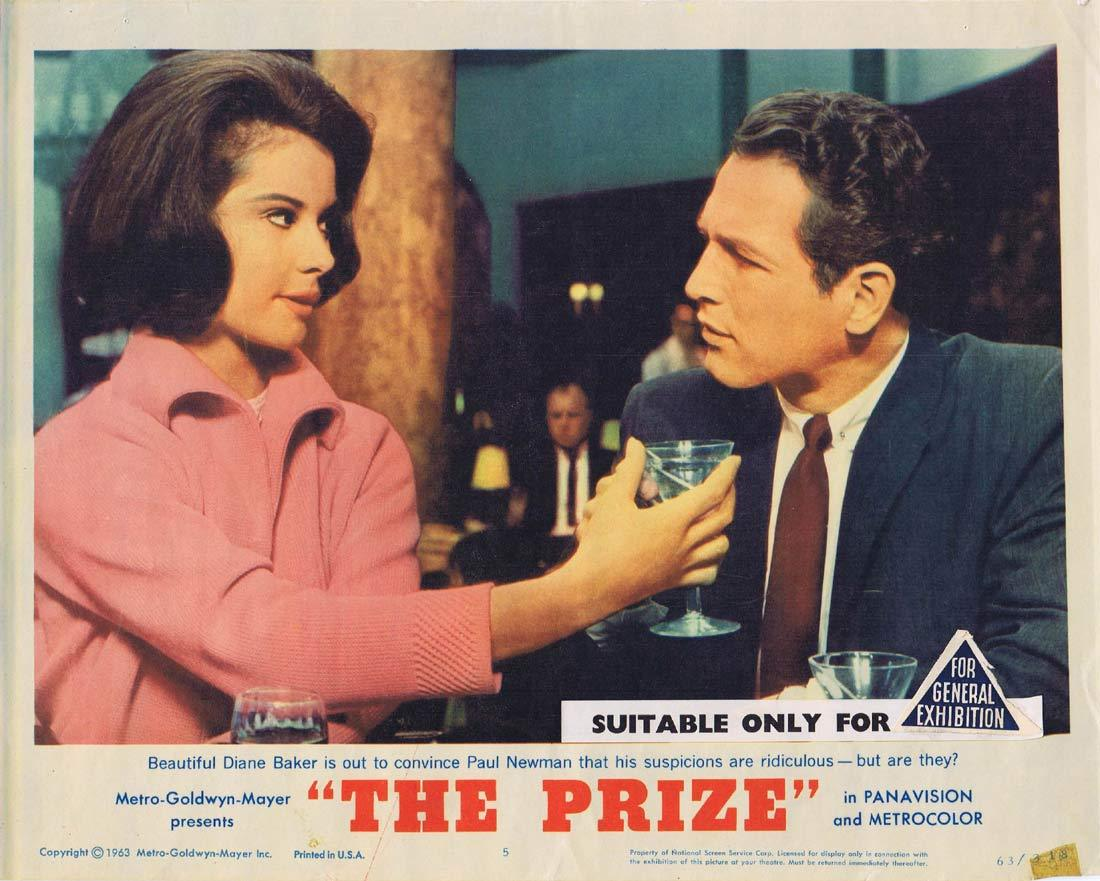 THE PRIZE Lobby Card 5 Paul Newman Edward G. Robinson