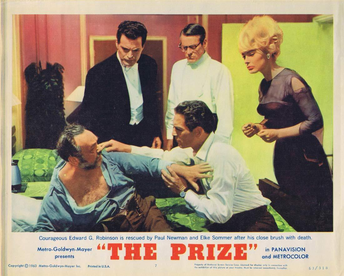 THE PRIZE Lobby Card 7 Paul Newman Edward G. Robinson