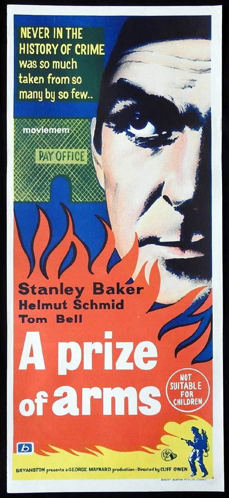 A PRIZE OF ARMS Original Daybill Movie Poster Stanley Baker Tom Bell