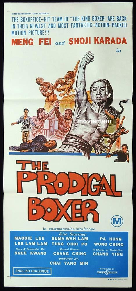 THE PRODIGAL BOXER Original Daybill Movie Poster Fei Meng Kung Fu Martial Arts