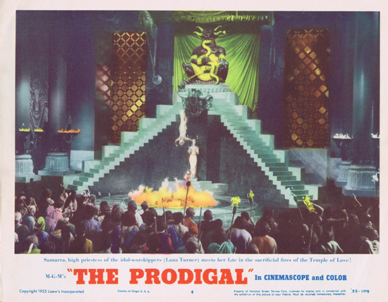 THE PRODIGAL US Lobby Card 4 Lana Turner Edmond Purdom