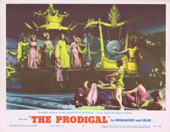 THE PRODIGAL US Lobby Card 5 Lana Turner Edmond Purdom
