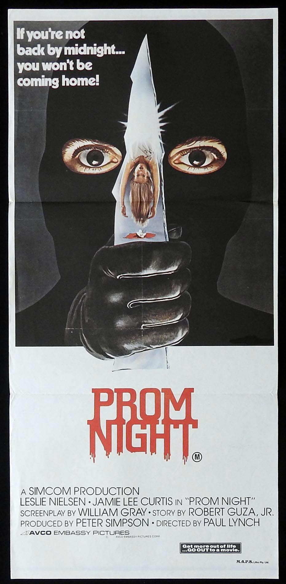 PROM NIGHT Original Daybill Movie Poster Jamie Lee Curtis Leslie Nielsen