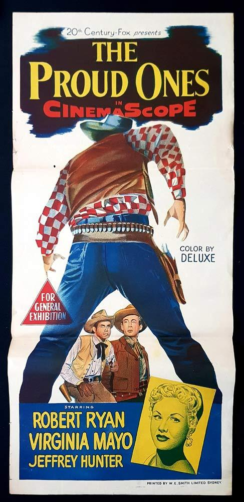 THE PROUD ONES Original Daybill Movie Poster Robert Ryan