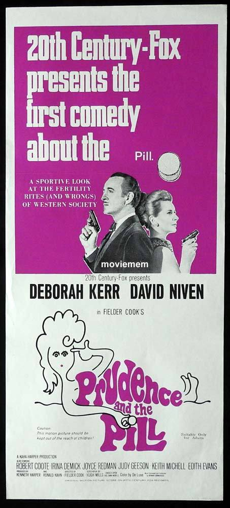 PRUDENCE AND THE PILL Original Daybill Movie Poster Deborah Kerr David Niven