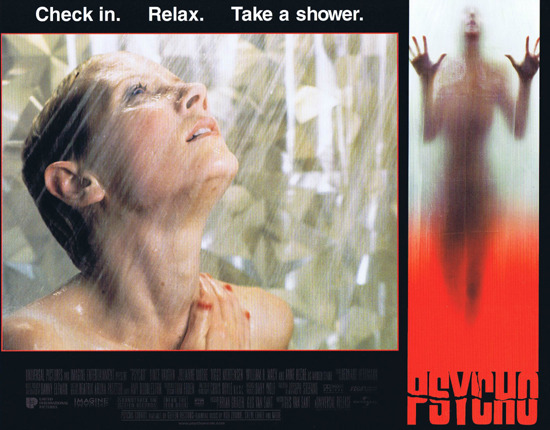 PSYCHO 1998 Lobby card 1 Alfred Hitchcock classic Anne Heche takes a shower