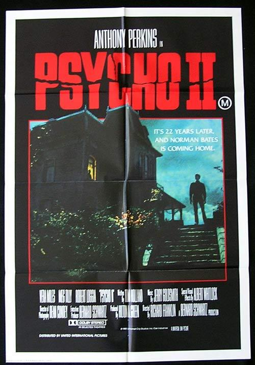 PSYCHO 2 Original One sheet Movie poster Anthony Perkins