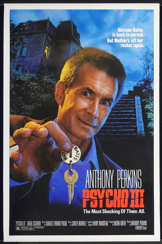 PSYCHO III Original US One sheet Movie poster Anthony Perkins Norman Bates Motel 3