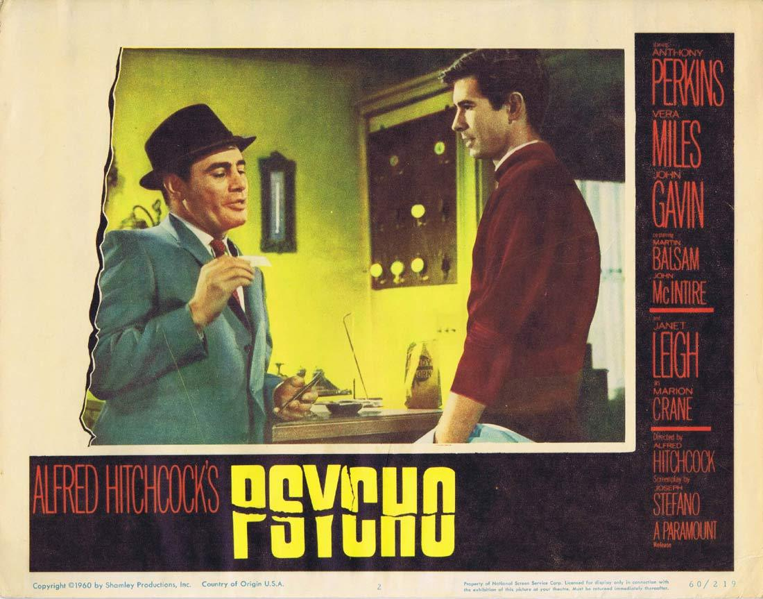 PSYCHO Lobby Card 2 Alfred Hitchcock Anthony Perkins as Norman Bates