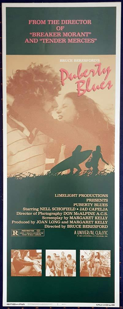 PUBERTY BLUES Original US Insert Movie poster 1981 Surfing Chicks BERESFORD