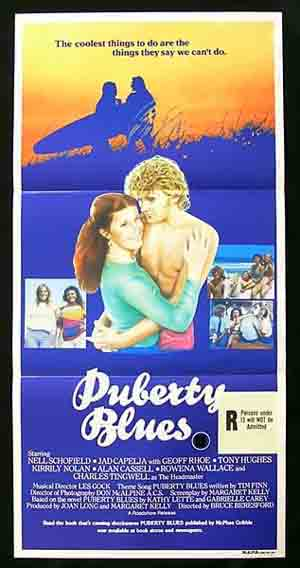 PUBERTY BLUES Australian daybill Movie poster 1981 Surfing Chicks Bruce Beresford