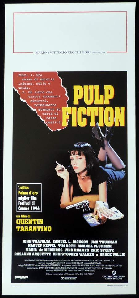 PULP FICTION Italian Locandina Movie Poster Quentin Tarantino