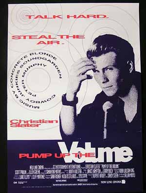PUMP UP THE VOLUME '90-Christian Slater RARE poster