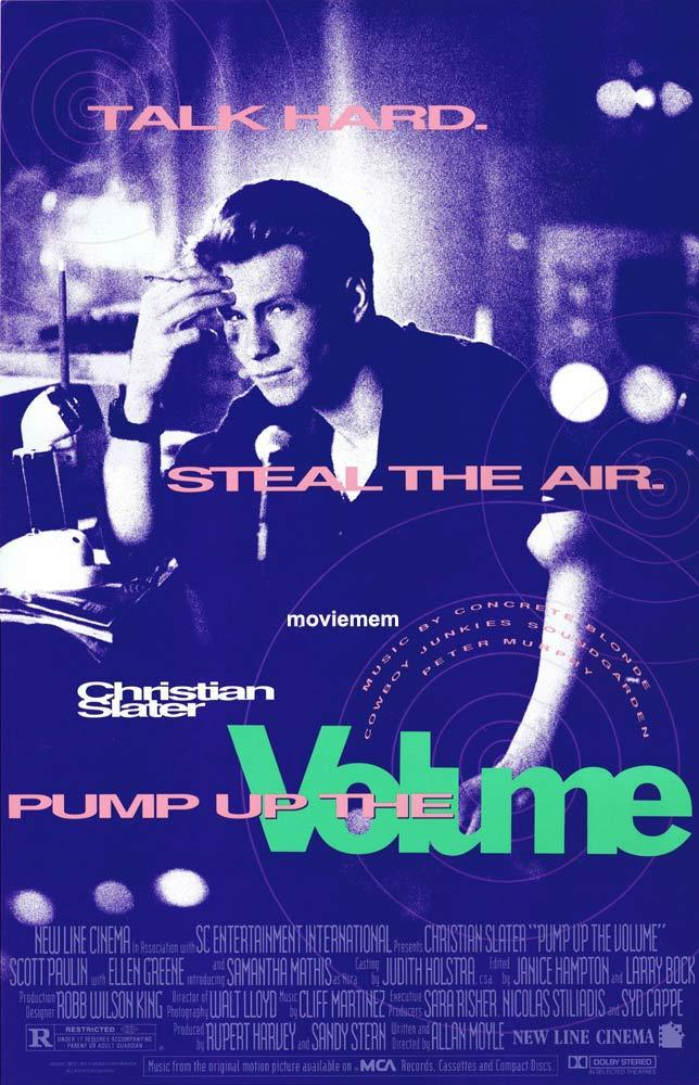 PUMP UP THE VOLUME Original Daybill Movie Poster Christian Slater Anthony Lucero