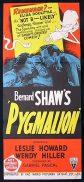 PYGMALION Daybill Movie Poster Leslie Howard RKO
