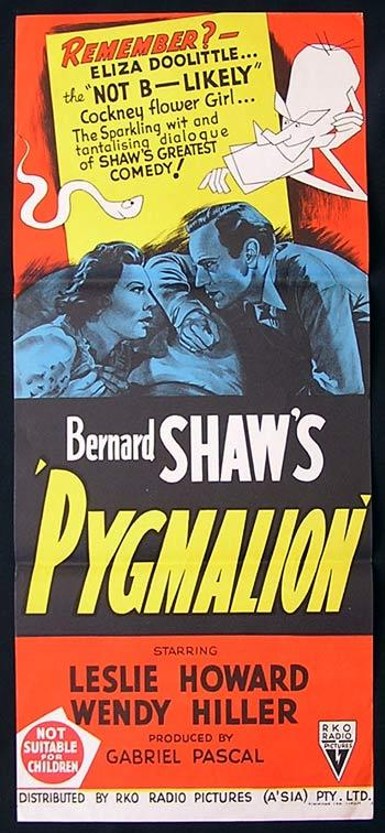 PYGMALION Daybill Movie Poster Leslie Howard RKO
