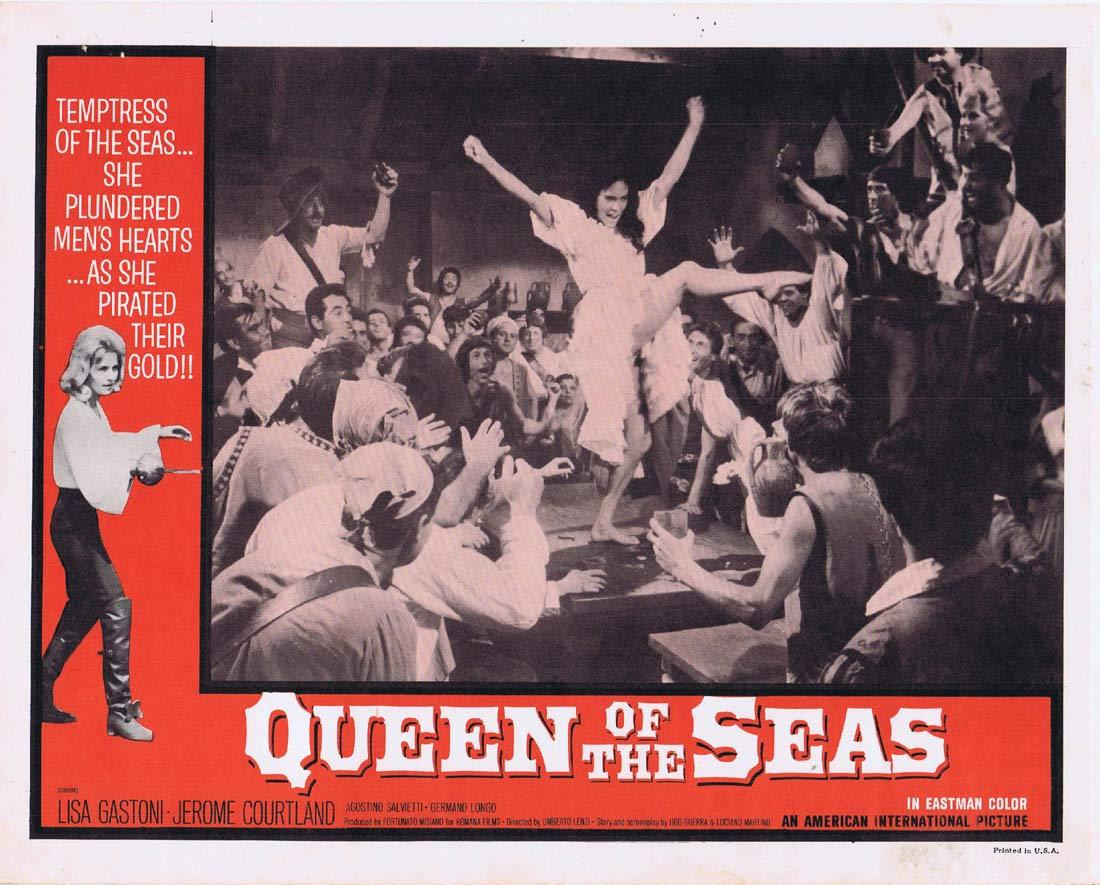 QUEEN OF THE SEAS Lobby Card 3 Lisa Gastoni Jerome Courtland