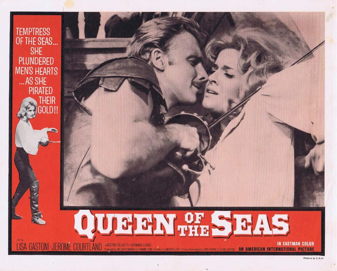 QUEEN OF THE SEAS Lobby Card 5 Lisa Gastoni Jerome Courtland