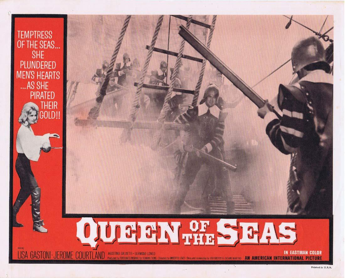 QUEEN OF THE SEAS Lobby Card 6 Lisa Gastoni Jerome Courtland