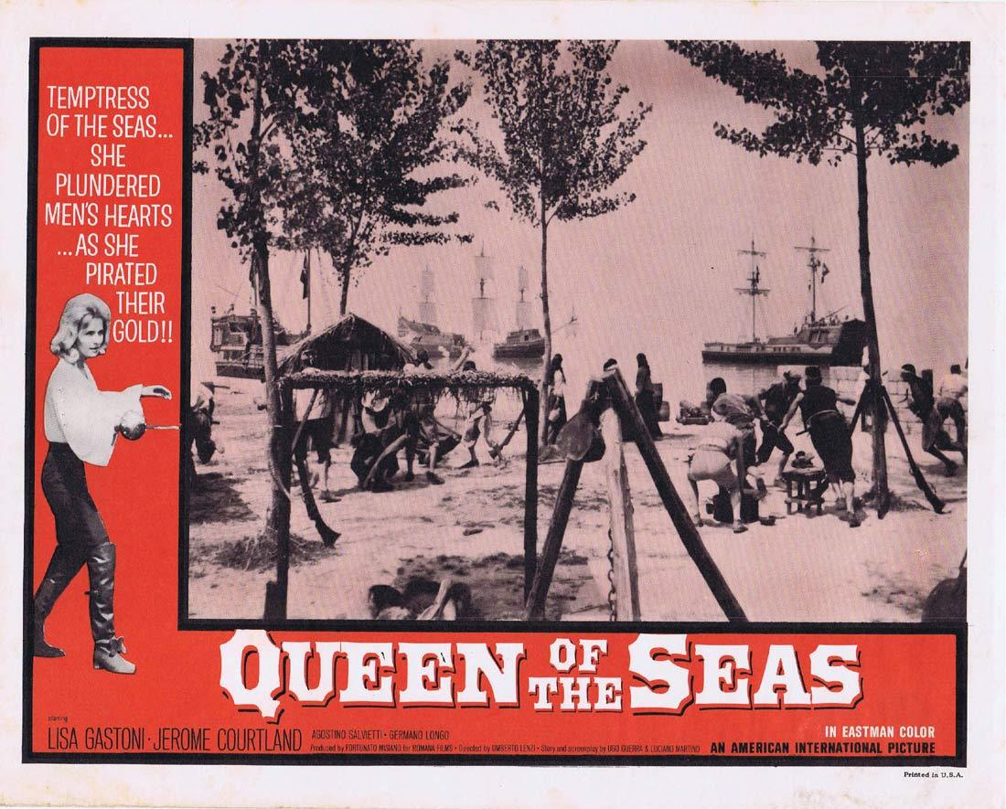 QUEEN OF THE SEAS Lobby Card 7 Lisa Gastoni Jerome Courtland
