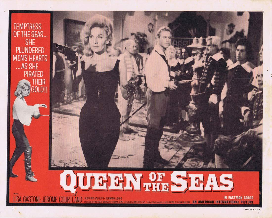 QUEEN OF THE SEAS Lobby Card 8 Lisa Gastoni Jerome Courtland