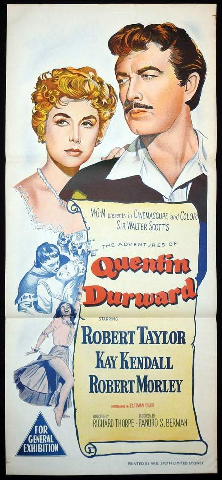QUENTIN DURWARD Original Daybill Movie Poster Robert Taylor Kay Kendall