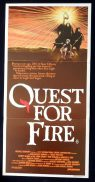 QUEST FOR FIRE Jean-Jacques Annaud VINTAGE Australian Daybill Movie poster