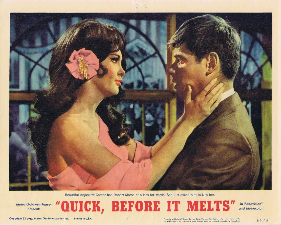 QUICK BEFORE IT MELTS Lobby Card 4 Robert Morse George Maharis Anjanette Comer