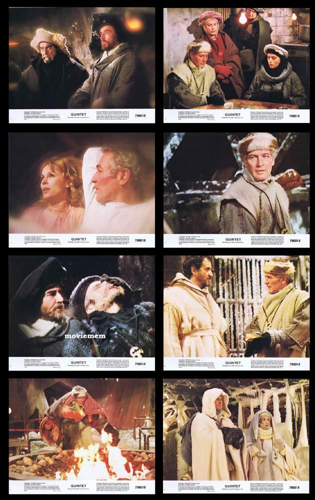 QUINTET Lobby Card Set Robert Altman Paul Newman
