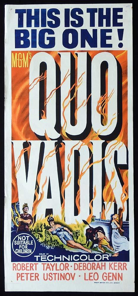 QUO VADIS Movie poster Robert Taylor Deborah Kerr Peter Ustinov 1964r