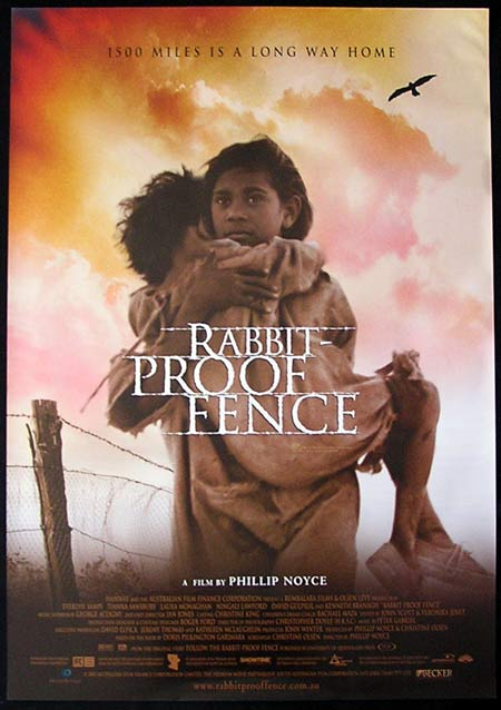 RABBIT PROOF FENCE '02 Phillip Noyce ORIGINAL 1sht poster