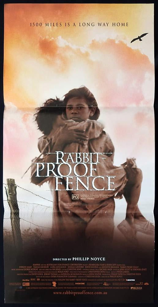 RABBIT PROOF FENCE Rare Australian Daybill Movie poster