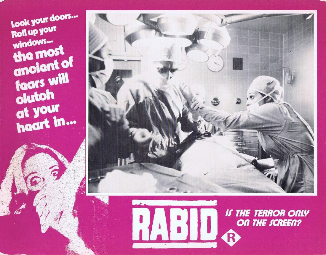 RABID Original Lobby Card 1 Marilyn Chambers David Cronenberg